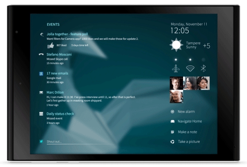 Jolla Tablet Sailfish OS UI