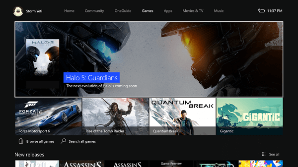 New Xbox One Experience Store Interface