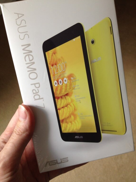 Asus Memo Pad 7 Packaging