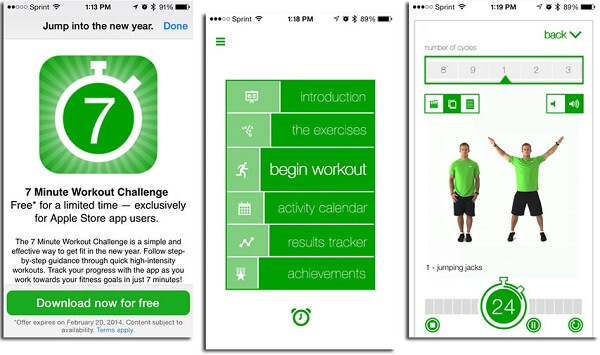 Best Weight Loss Apps 5 7 Minute Workout App