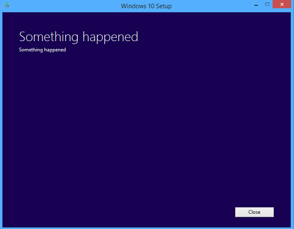 Windows 10 Issues - Something Happened Error