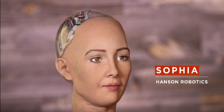 an interview with the humanoid robot named Sophia