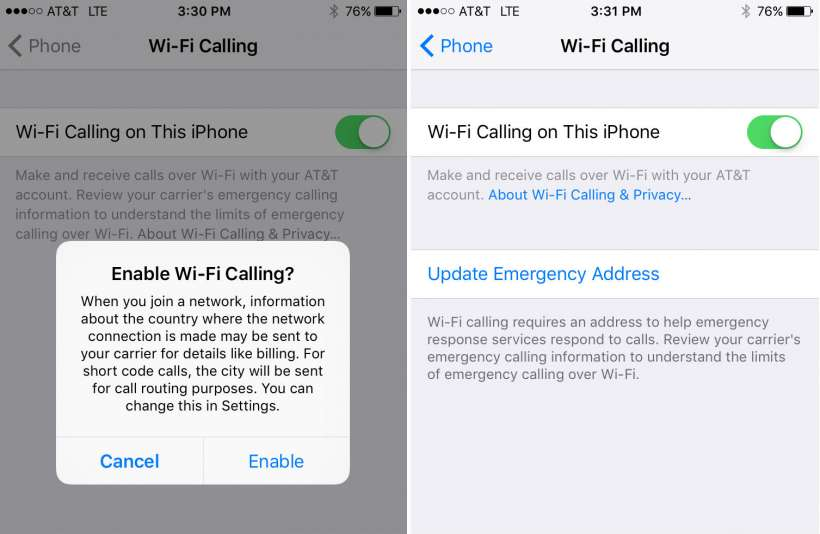 concept of Wi-Fi calling was first introduced back in October