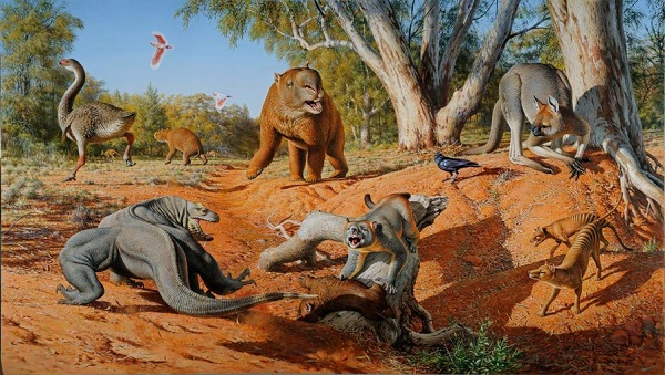 a representation of megafauna
