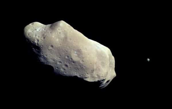 asteroid in space.