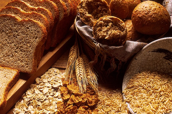 whole grains and bread