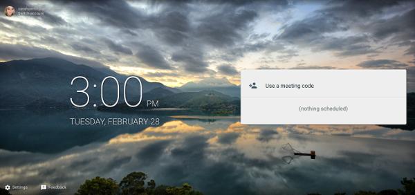 Meet app interface