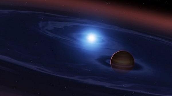 rocky planet in orbit