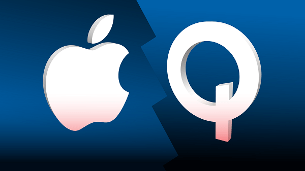 qualcomm and apple logos