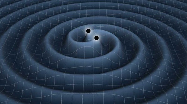 The formation of a gravitational wave after two black holes collide
