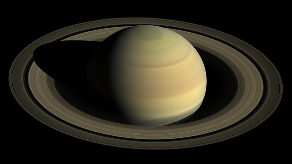 Upward view of Saturn