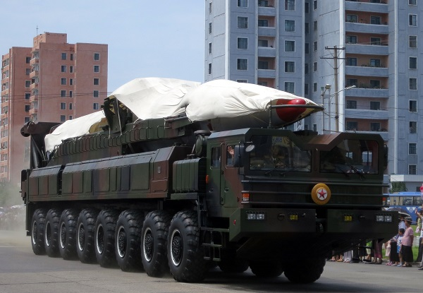 Covered Missile in North Korea