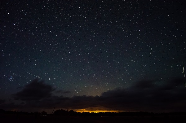 Meteor Shower at dusk