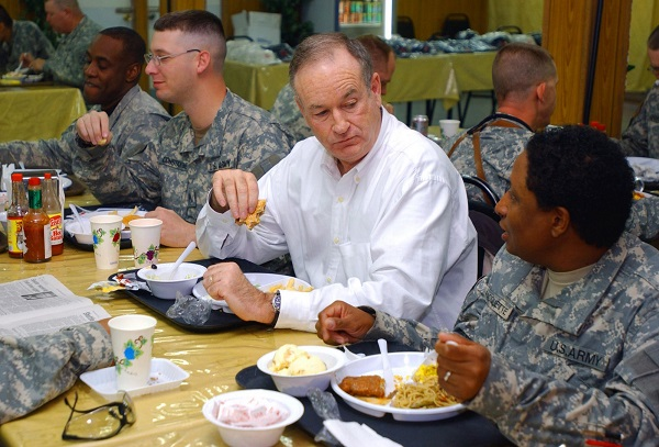 former fox new television host bill o'reilly eating