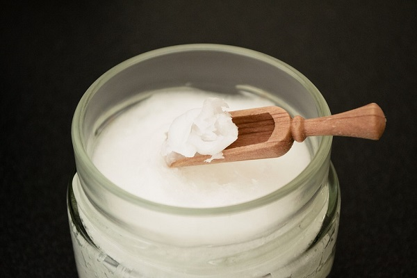 Coconut oil in a jar