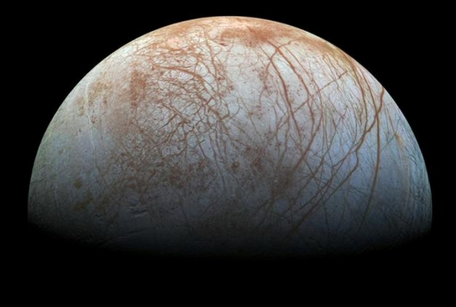 Europa covered in dark material