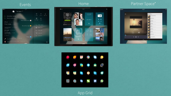 Jolla Tablet Homescreen