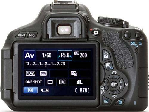 Canon Rebel T3i Menu