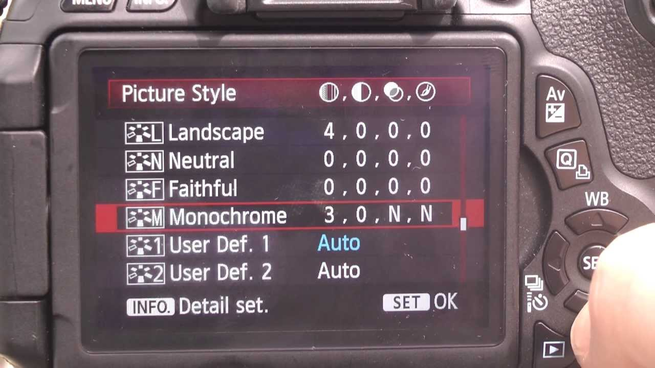 Canon Rebel T3i Image Settings