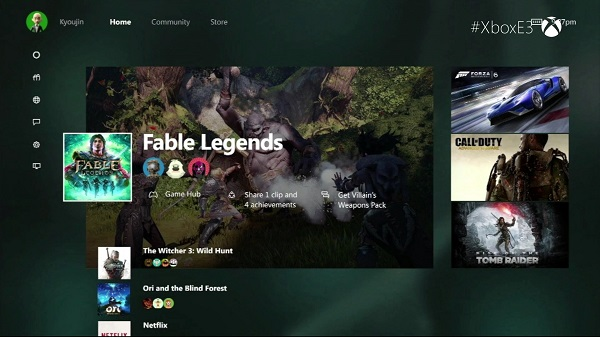 New Xbox One Experience UI