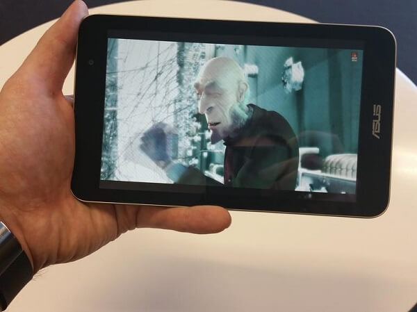 Asus Memo Pad 7 Movie Viewing