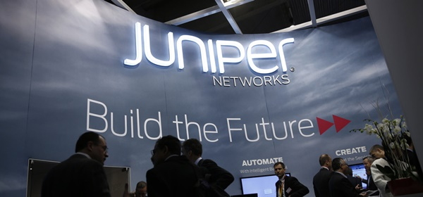 Juniper Networks Logo and Motto in a building
