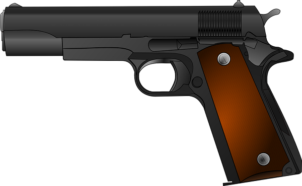 gun with trigger pressed