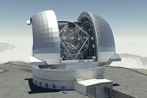 the biggest telescope structure