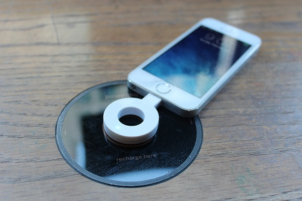 Wirelessly charging iPhone
