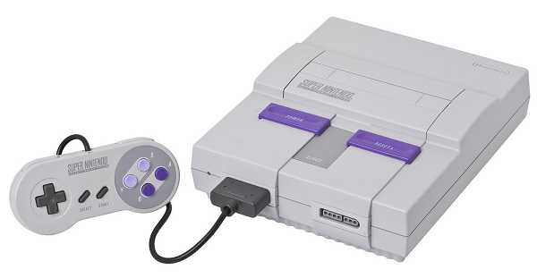 SNES Classic console and its controller
