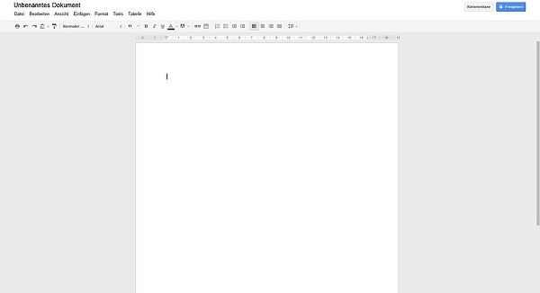 Google Docs blank document