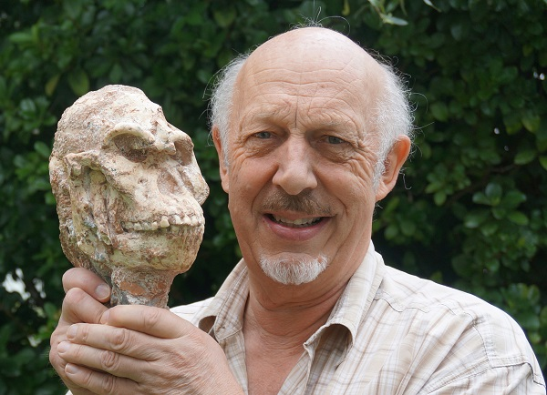 Professor Ron Clarke and the skull of Little Foot