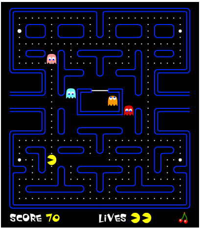 pac-man retro arcade game screenshot