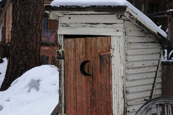 outhouse.